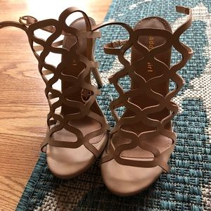 Madden Girl Nude Strappy Heels